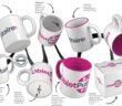 Exemples de marquage de mugs publicitaires