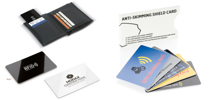 La carte anti-RFID possède une grande surface de marquage et peut être utilisée comme carte de visite