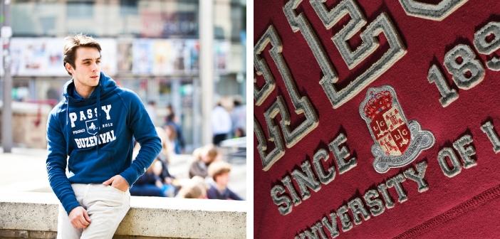 T-shirts, sweats et autres goodies envahissent les universités.